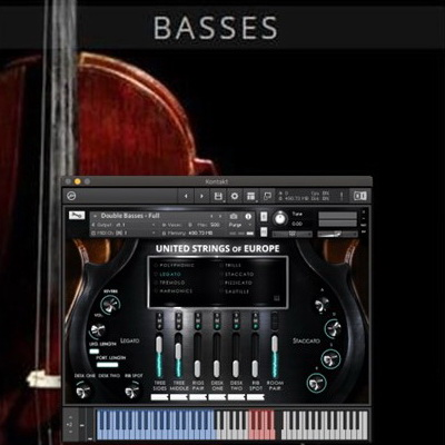 دانلود کنتر باس Auddict United Strings of Europe: Basses